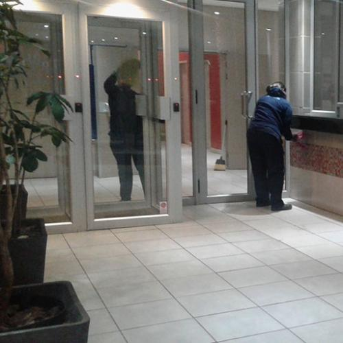 Spic n Span Office Reception Cleaning In Progress